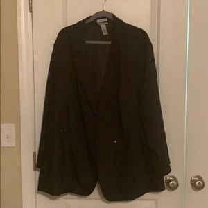 Catherine's Black Blazer with Gold Accents Pockets